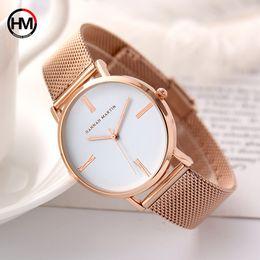 2019 золотые сетки браслет смотреть Women Bracelet Watches  Rose Gold  Women Dress Watch Steel Mesh Female Watch Simple Black Clock  Xfcs дешево золотые сетки браслет смотреть