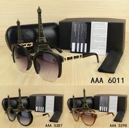 Wholesale Metal Sunglasses Big Box - Top fashion Luxury brand Design Big size men woman Sunglasses with origianal box and case eyeglasses gold Metal Round classical logo glasses