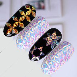 Wholesale Triangle Nail Art - Chameleon Nail Sequins AB Color Iridescent Triangle Nail Art 3D Decorations Paillettes Nail Decoration UV Gel Polish