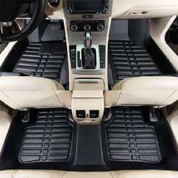Matte bmw online-Universal 5 stücke auto fußmatten für auto rutschfeste matte rot schwarz auto styling innen auto auto boden fußmatte für honda toyota bmw