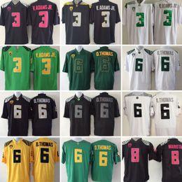 Wholesale 2017 Cheap 3 Vernon Adam Jr. 6 D.Thomas 8 Marcus Mariota White  Black Green Yellow Mens College Oregon Ducks Football Jerseys 65521c3a9
