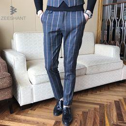 Wholesale Slim Dresses Korea - ZEESHANT Masculino Costume Pantalon Homme 2017 Spring New Plus Size Party Dress Pants Korea Slim Fit Casual Men Suit Pants 5XL