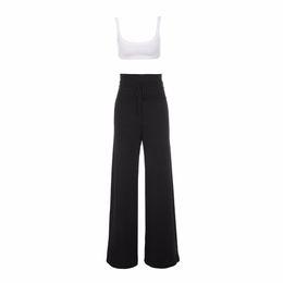 Дизайнерские черные комбинезоны онлайн-Women  Sexy Backless Black White Bandage Jumpsuit 2017 EleKnitted Designer Jumpsuit