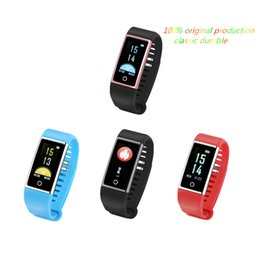 Wholesale Blood Metal - smart watch band m18 Color screen Metal frame Pedometer Heart rate blood pressure oximetry waterproof USB Charged portable smart Bracelet