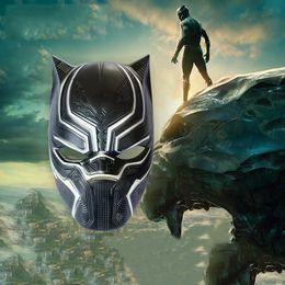 Wholesale wholesale masks - Black Panther Helmet Masks Cos America Captain 3 Civil War Marvel Comics Halloween Horror Mask masquerade nightclub makeup show decoration