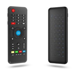 Wholesale air mouse gyro keyboard - New H1 Full Touchpad Wireless Keyboard 2.4GHz 6-Axis Gyro 2.4GHz Air Mouse Remote Control for SBox Andriod TV Box S905W H96 better Rii i8