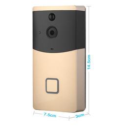 2019 câmera d anel À prova d 'água Sem Fio WI-FI Anel de Campainha De Vídeo Em Casa Inteligente Night Vision Telefone-anel de Segurança Cam Monitor câmera d anel barato