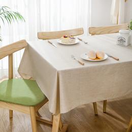 Toalha de mesa lisa on-line-Modern Simples À Prova D 'Água De Linho Puro 2018Rectangular Casa Toalha De Mesa Do Hotel Plain Tea Table Toalha De Mesa De Embalagem