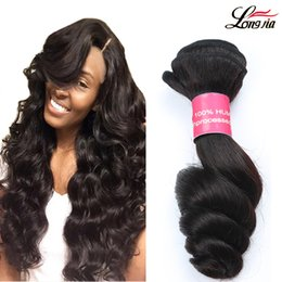 Wholesale Loose Weave Peruvian Hair - Best Quality Products Peruvian Loose Wave Hair Extension 7a Unprocessed Natural Color Malaysian HairDouble Weft Human Hair Extensions #1B