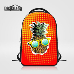 Wholesale Unique Fruit - 14 Inch Laptop Backpack For Women Unique Fruit Pineapple School Bags Rucksack For Teenage Girls Female Bagpacks Rugtas College Mochilas Pack