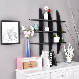 Awesome Display Units Promo Codes   Floating Shelf Hanging Storage Unit Wall  Mounted Cross MDF Display Rack