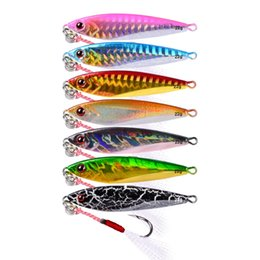 "fishing lures 6cm Coupons - Fishing Bait Metal Jigging Fishing Lure 7PC Metal Fishing Lures 6cm-2.36"" 22g-0.78oz Lead Artificial Hard Bait Tackle"
