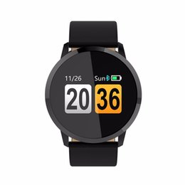 Wholesale Golden Fashion Watches For Men - Bluetooth Waterproof Q8 Smart Watch Fashion Watch Men Women Heart Rate Monitor Fitness Tracker Smartwatch 2018 For Android IOS