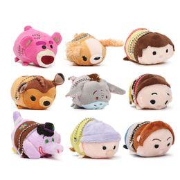 Wholesale Cheap Toys For Christmas - Cheap 60pcs 7-9cm Soft Animal Bear Dog Plush Keychain Pendants Dolls Japan Keychain Mini Princess Set for Children's Gifts