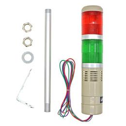 Luz de señal industrial DC 24 V LED Rojo Verde Alarma Torre Indicador de bombilla Lámpara continua Luz de advertencia Zumbador desde fabricantes
