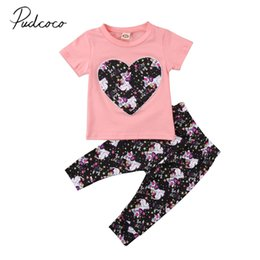 Wholesale Boys 4t Dress Pants - 2018 Brand New Cartoon Horse Infant Newborn Kids Baby Girl Outfits Clothes T-shirt Top Dress+Long Pants 2Pcs Colorful Set 0-4T