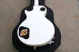 2012 nuovo stile negozio personalizzato bianco chitarra elettrica Colore fiore intarsio bordo chitarra elettrica oro hardware da hardware bianco della chitarra bianca fornitori