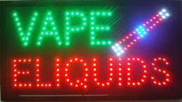 vape liquido all'ingrosso Sconti Nuovo arrivo super luminoso led open sign segno al neon segno aperto uso interno Vape E-liquid segno all'ingrosso