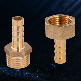 """Wholesale Male Tail Plug - 2Pcs 10mm Hose Barb Tail To G1 2""""PT BSP Male Thread Straight Barbed Brass Connector Joint Copper Pipe Fitting Coupler Adapter"""