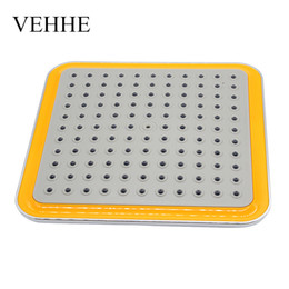 Wholesale Stainless Steel Waterfall Shower - VEHHE 8 inch wide square yellow ABS chrome waterfall Shower heads rainfall shower head top handhled nozzle durable VE047