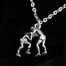 Wrestling pendants online wrestling pendants online en venta en es 12pcs lot wrestling necklace wrestler colgante charm wrestling team gift plateado tono aloadofball Image collections