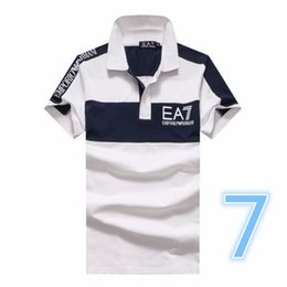 Wholesale korean summer - Retail and wholesale summer new men's pure cotton short-sleeved t-shirts Polo Korean version of men's round collar semi-sleeved shirts M-2XL