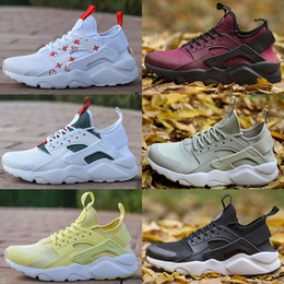 Wholesale Burgundy Canvas Shoes - 2018 New Arrival Air Huarache II running shoes Huraches Running trainers men women outdoors shoes Huaraches sneakers Hurache