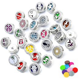 Wholesale Lockets For Men - Mixed styles Noosa Chunks Ginger Perfume Aromatherapy Locket Essential Oil Diffuser Snap Button bracelet Necklace for Women Men Jewelry