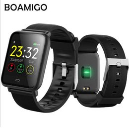 fcfe7373bac8 China BOAMIGO New color screen smart bracelet sports heart rate ing step  calorie watch to send