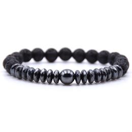 Großhandel NEW Hämatit Runde Tabletten Yin Yang Tai Chi Armband Punk Ball Armbänder Schmuck für Frauen Männer Charme Perlen Armreifen von Fabrikanten