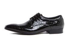Zapatos personalizados de la boda online-Personalizado Hombres Zapatos Formales Diseñador de moda Python Serpiente Zapatos Derby Hombre Party Stage Show Zapatillas Boda