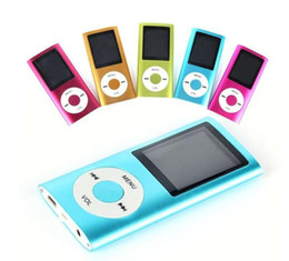 """Wholesale Green E Cards - Slim 4TH 1.8"""" LCD MP4 Player Earphone MP4 Music Player Support 2GB 4GB 8GB 16GB TF Card Slot"""