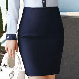 Wholesale Korean Bodycon Skirt - 2018 Bodycon Mini Skirt Plus Size 3XL 4XL Womens Korean Style Office Formal Short Pencil Skirt Jupe Femme Saia Faldas Black Blue