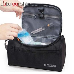 Wholesale Hanging Toiletry Bags For Women - BalleenShiny Cosmetic Bags Fashion Waterproof Polyester Multifunction Makeup Storage Bag High Quality Toiletry Bag For Men Women
