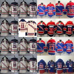 Guardabosques de nueva york online-Jersey de New York Rangers Jersey 11 Mark Messier 26 Jimmy Vesey 30 Henrik Lundqvist 36 Mats Zuccarello 61 Rick Nash 93 Mika Zibanejad Jerseys