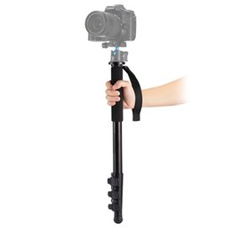 Wholesale self screws - Camera Accessories Adjustable Portable Four-Section Telescoping Aluminum Alloy Self-Standing Monopod Tripod legs with 3 8 Screw