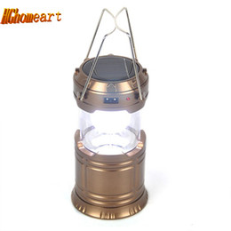 super bright solar camping lanterns Coupons - Super Bright 6 LED Camping Lantern Solar Accumulator power bank Outdoor Portable Lights Water Resistant Camping Lighting Lamp