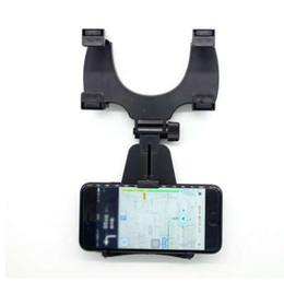 Staffe per culla del telefono cellulare online-Supporto per telefono cellulare universale con supporto specchietto retrovisore per auto. Supporto per iPhone Samsung Xiaomi GPS Smartphone