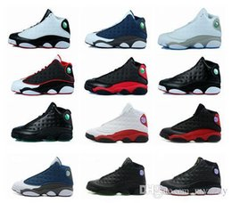 Wholesale Athletic Shoes History - Cheap 13 Bred Chicago Flints Men Women Basketball Shoes 13s DMP Grey Toe History Of Flight All Star Retro Sneakers Outdoors Athletics Shoes