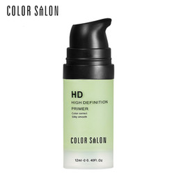 Wholesale purple skin color - Color Salon face Care Corrector Primers 12ml green&purple Easy to Absorb Smooth Makeup Base Facial Cream Natural Moisturizer