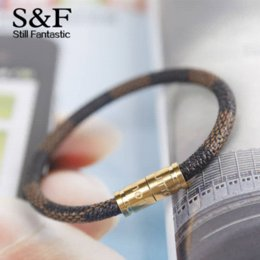 Wholesale men leather bead bracelet - New Arrival Leather Bracelet Men Bracelets For Women Pulseira Masculina Magnet Man Jewelry Charm Bileklik Pulseiras 2017