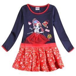 Wholesale Long Sleeve Girls Frock - 2-8y Girls party dresses nova kids wear hot selling children's clothing long sleeve fashion wedding girls dresses baby frocks