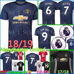 Wholesale sports quick dry - 2018 POGBA United soccer jerseys 18 19 football shirt ALEXIS LINDELOF RASHFORD MKHITARYAN LUKAKU MARTIAL JERSEY Sports football shirt