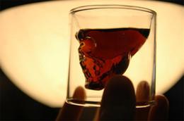 4 pezzi / set doppia parete cristallo trasparente testa cranio colpo tazza di vetro set per whisky vino vodka casa bere articoli da regalo uomo tazza da bicchieri di cristallo di cognac fornitori