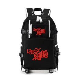 2019 weiße buchtasche Anime Zellen bei der Arbeit Rucksäcke für Kinder Kinder Schule und Mädchen weiß Blutkörperchen rote Blutkörperchen Bookbag Reisetaschen günstig weiße buchtasche