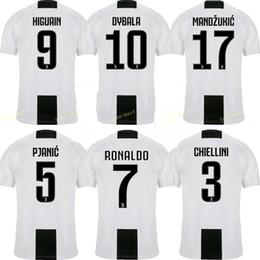 7e7b4b10a8712 2019 niños de encargo del fútbol 2018 2019 Juventus Soccer Jersey 7 RONALDO  BUFFON DYBALA D