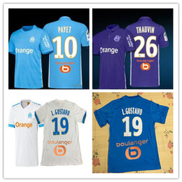 Wholesale New Away - Olympique de Marseille soccer jersey top quality 2017 2018 Ligue 1 home away 3rd 17 18 PAYET new CABELLA ANGUISSA football shirts