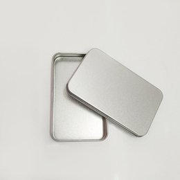 2019 tampas metálicas para latas Recipientes Articulados Retangulares Com Tampa De Metal Mini Vazio Caixa De Lata De Desgaste Resistente Ao Desgaste Organizador Venda Quente 1 3gy ff desconto tampas metálicas para latas