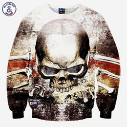 Wholesale Woman S Skull Clothing - Hip Hop Harajuku style men women 3D sweatshirt Hip hop print big skulls galaxy pullover hoodies autumn tops clothes