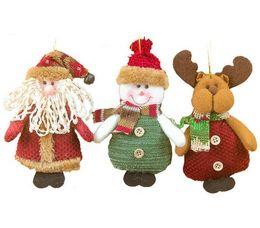 Wholesale Crystal Elk - Merry Xmas Christmas Ornaments Supplier Santa Claus Snowman Elk Christmas Tree Hanging Decoration 2018 Home Decor